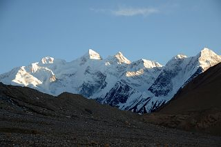 Gasherbrum II E, Gasherbrum II, Gasherbrum III, Nakpo Kangri North Faces Just before Sunset From Gasherbrum North Base Camp In China